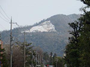 大文字山の雪文字